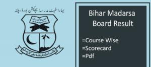 bihar madarsa board result 2018