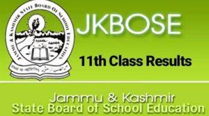JKBOSE 11th result 2019